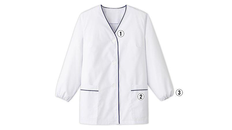 FA-380 Servo(サーヴォ) デザイン白衣/長袖(女性用) 商品詳細・こだわりPOINT