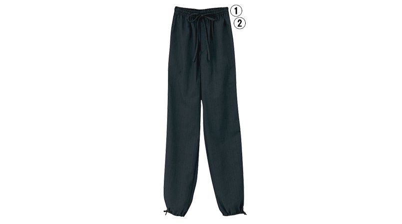 JB-2021 2022 Servo(サーヴォ) 作務衣パンツ(総ゴム入り)(男女兼用) 商品詳細・こだわりPOINT