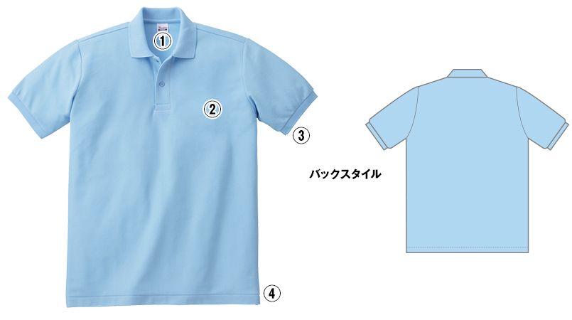00141-NVP T/Cポロシャツ(ポケ無し)(5.8オンス)(男女兼用) 商品詳細・こだわりPOINT