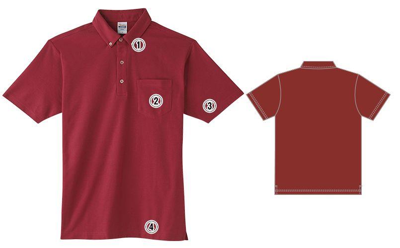 00198-BDQ 4.9オンス ボタンダウンポロシャツ(ポケット付) 商品詳細・こだわりPOINT