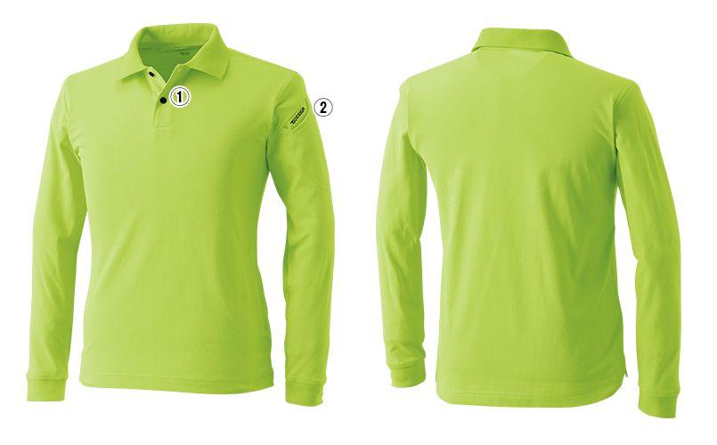 TS DESIGN 4075 ESロングスリーブポロシャツ(男女兼用) 商品詳細・こだわりPOINT
