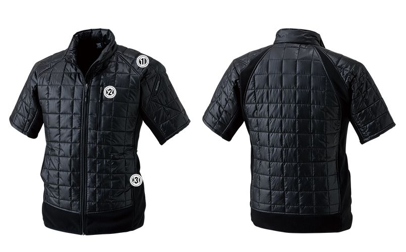 42256 TS DESIGN [秋冬用]マイクロリップショートスリーブジャケット(男女兼用) 商品詳細・こだわりPOINT