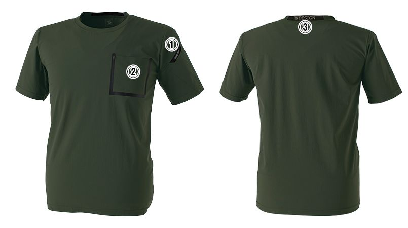 8355 TS DESIGN TS DELTA [春夏用]ワークTシャツ 商品詳細・こだわりPOINT