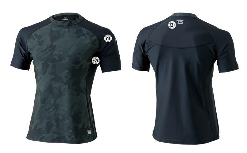 841552 TS DESIGN [春夏用]接触冷感ショートスリーブシャツ(男性用) 商品詳細・こだわりPOINT