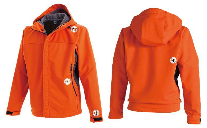 8446 TS DESIGN スポーティ防寒 防風ウォームジャケット(男女兼用) 商品詳細・こだわりPOINT