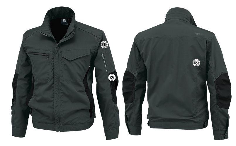 84636 TS DESIGN [通年]ストレッチ タフワークジャケット(男女兼用) 商品詳細・こだわりPOINT