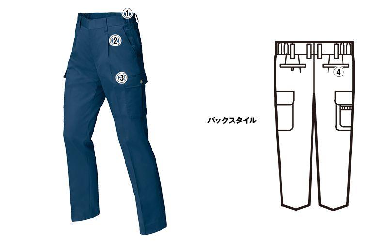 ジーベック 1446 [春夏用]ワンタックラットズボン 商品詳細・こだわりPOINT