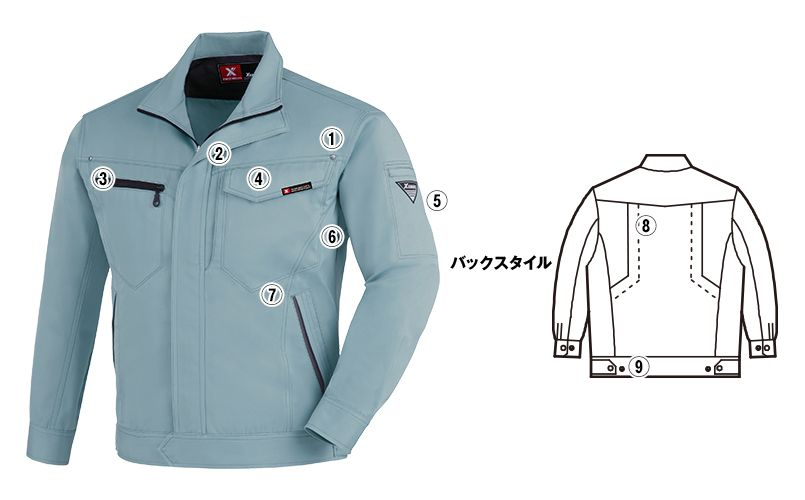 ジーベック 1620 T/Cツイル長袖ブルゾン(男女兼用) 商品詳細・こだわりPOINT