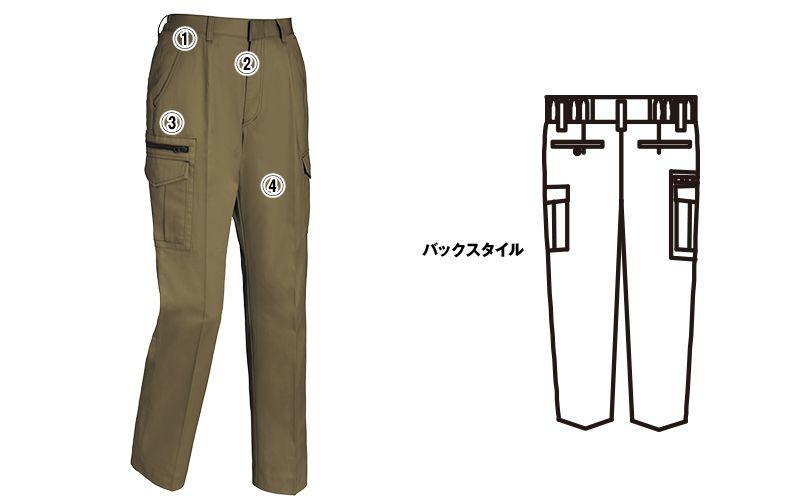 ジーベック 2019 [春夏用]綿100%ラットズボン(女性用) 商品詳細・こだわりPOINT