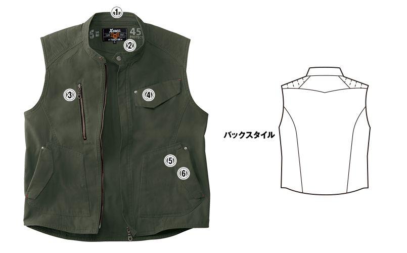 [在庫限り/返品交換不可]ジーベック 2157 現場服 ノースリーブジャケット 商品詳細・こだわりPOINT