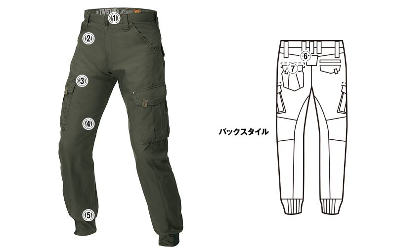 ジーベック 2159 [春夏用]現場服 リブ付カーゴパンツ 商品詳細・こだわりPOINT