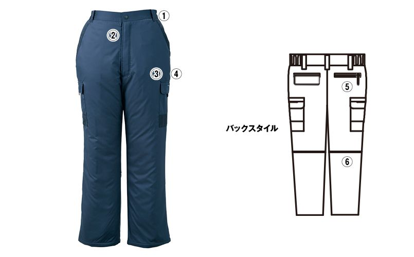 ジーベック 220 防寒パンツ 商品詳細・こだわりPOINT