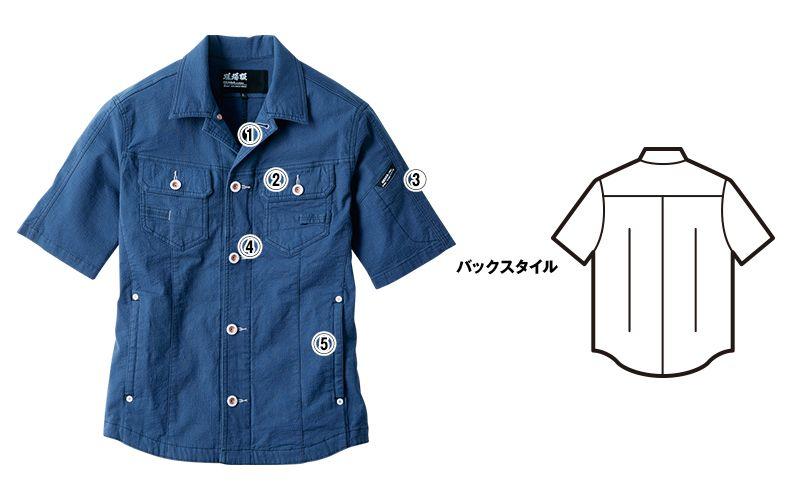 ジーベック 2251 [春夏用]現場服半袖ブルゾン(男性用) 商品詳細・こだわりPOINT