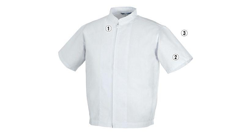 ジーベック 25201 半袖ファスナージャンパー(立ち衿)(男女兼用) 商品詳細・こだわりPOINT