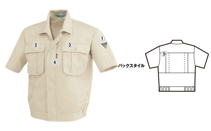 ジーベック 3191 [春夏用]リサイクル半袖サマーブルゾン 商品詳細・こだわりPOINT