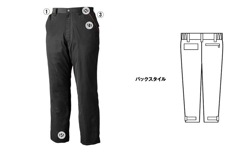 ジーベック 340 [秋冬用]超撥水防寒パンツ 商品詳細・こだわりPOINT