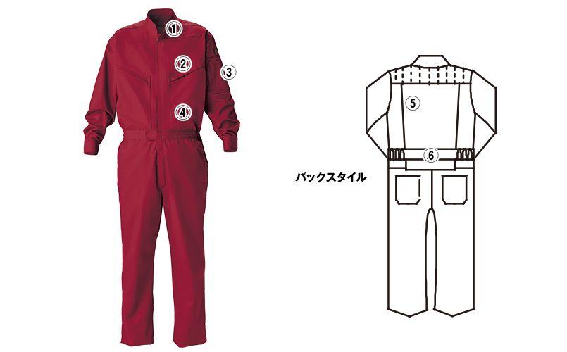 ジーベック 34011 T/Cツイル  楽脱ファスナーつなぎ 続服(男女兼用) 商品詳細・こだわりPOINT