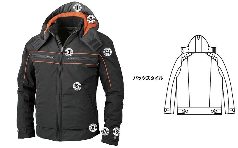 ジーベック 342 [秋冬用]超撥水防寒ライダースブルゾン 商品詳細・こだわりPOINT