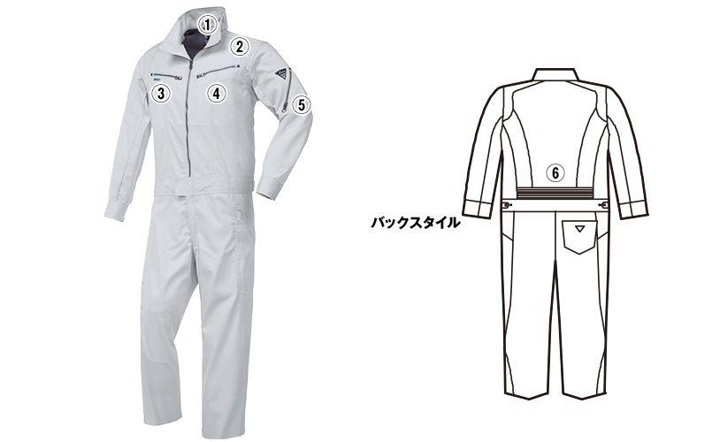 ジーベック 34881 楽脱ファスナーつなぎ(男女兼用) 商品詳細・こだわりPOINT