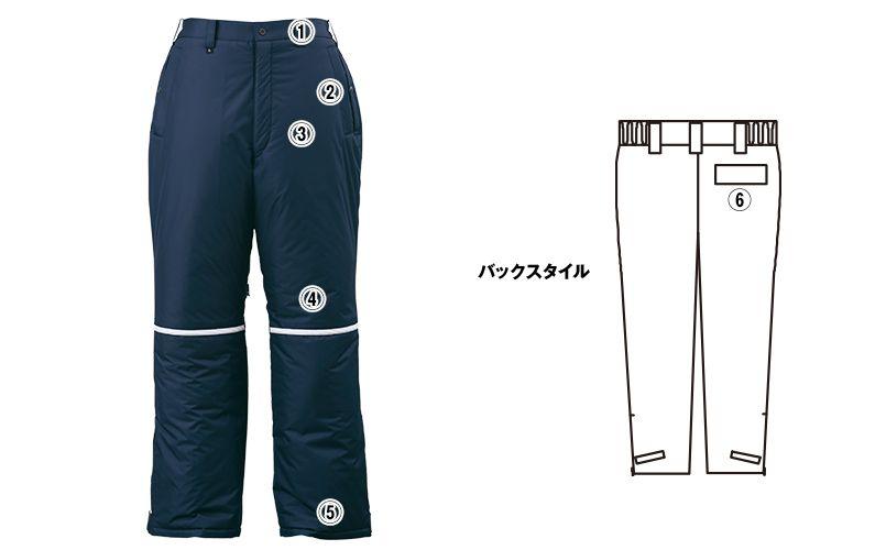 ジーベック 580 防水防寒パンツ 中綿 商品詳細・こだわりPOINT