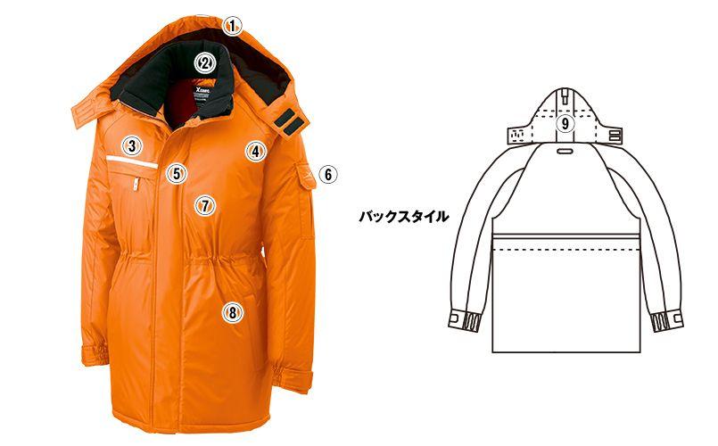 ジーベック 581 防水防寒コート 中綿 商品詳細・こだわりPOINT