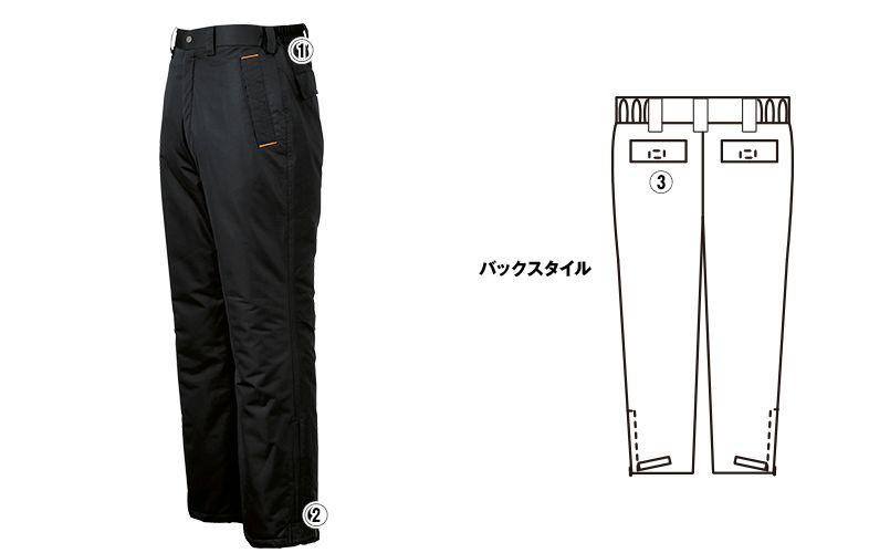 ジーベック 590 防水防寒パンツ(男女兼用) 商品詳細・こだわりPOINT