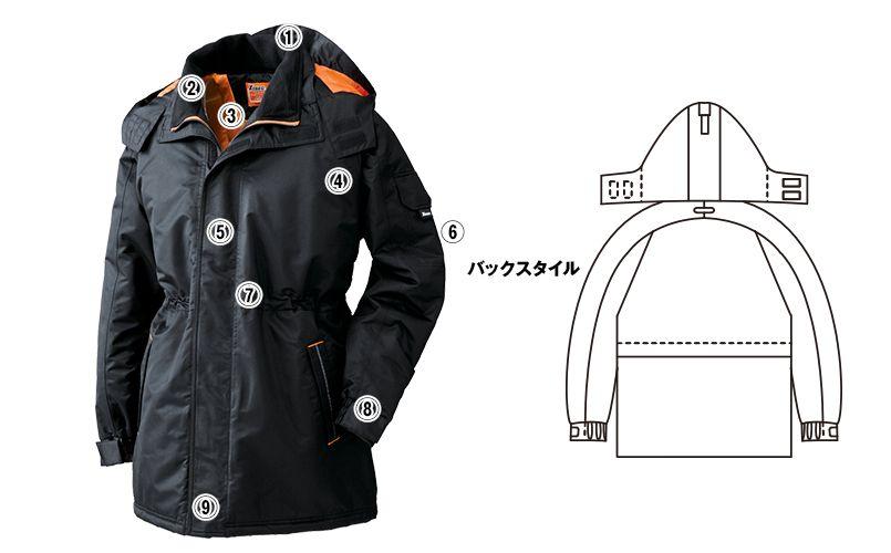 ジーベック 591 防水防寒コート(男女兼用) 商品詳細・こだわりPOINT