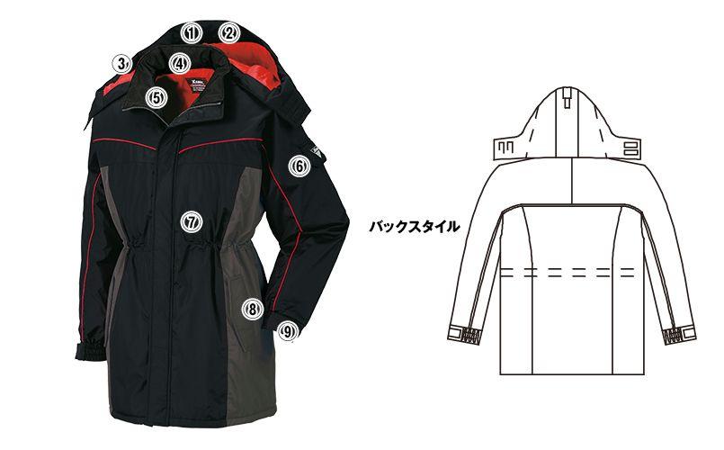 ジーベック 601 防水防寒コート 商品詳細・こだわりPOINT