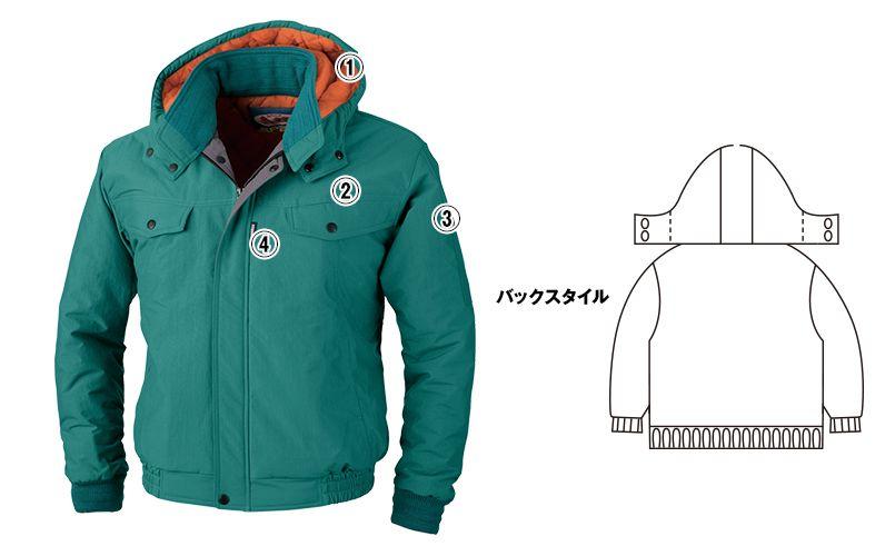 ジーベック 755 制電撥水防寒ブルゾン(JIS T8118対応) 商品詳細・こだわりPOINT
