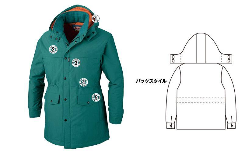 ジーベック 756 制電撥水防寒コート(JIS T8118対応) 商品詳細・こだわりPOINT
