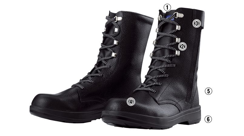 ジーベック 85023 安全長編上靴 樹脂先芯 商品詳細・こだわりPOINT