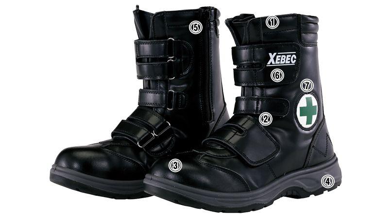 ジーベック 85105 マジックテープ安全靴 樹脂先芯 商品詳細・こだわりPOINT