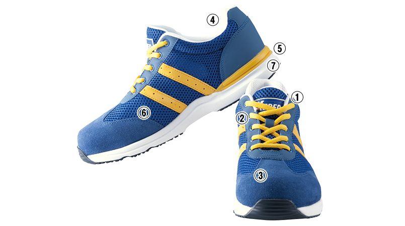 ジーベック 85110 スタビライザー安全靴 樹脂先芯 商品詳細・こだわりPOINT