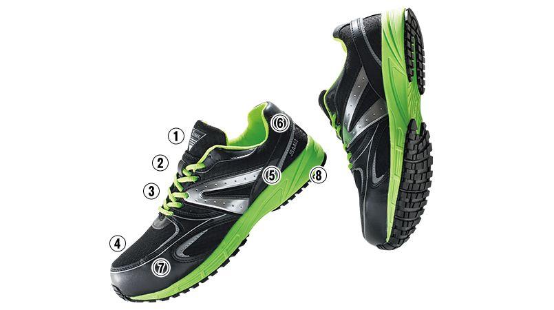 ジーベック 85130 蛍光めちゃ軽 安全靴 超軽量600g 樹脂先芯 商品詳細・こだわりPOINT