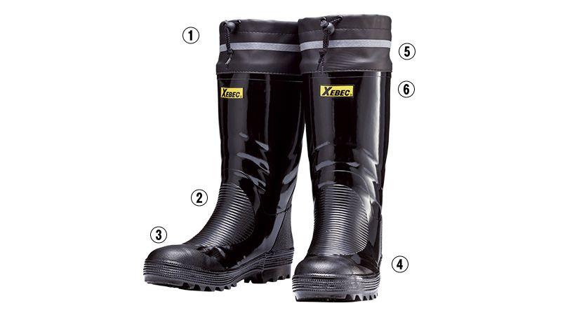 ジーベック 85702 安全長靴 スチール先芯 商品詳細・こだわりPOINT