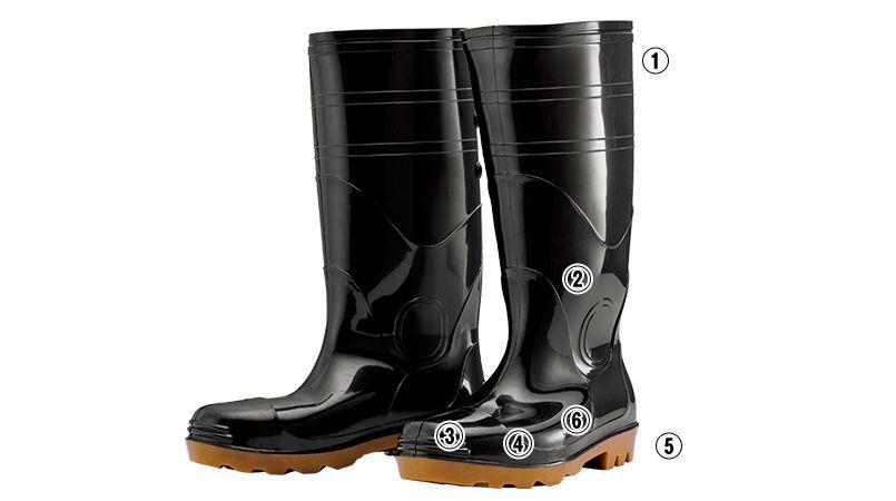 ジーベック 85707 耐油安全長靴 スチール先芯 商品詳細・こだわりPOINT
