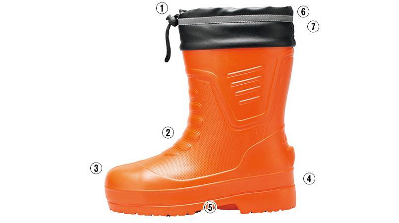 ジーベック 85715 EVA軽量防寒ショート丈長靴 商品詳細・こだわりPOINT
