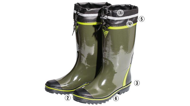 ジーベック 85717 長靴(先芯なし)(男女兼用) 商品詳細・こだわりPOINT