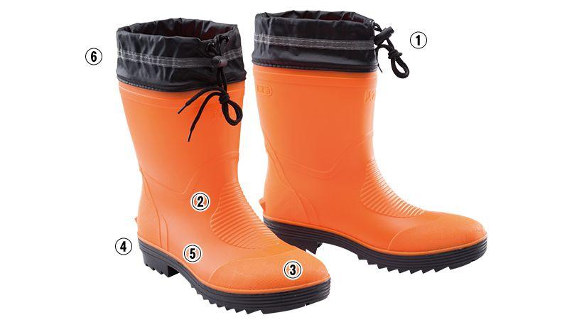ジーベック 85763 ショート丈安全長靴 商品詳細・こだわりPOINT
