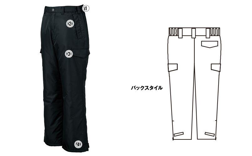 ジーベック 890 ライダーススタイル 防寒パンツ 防風 商品詳細・こだわりPOINT