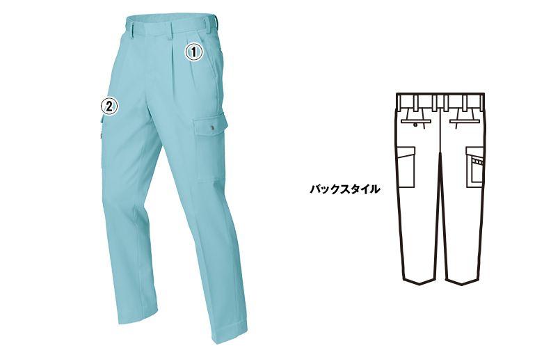 ジーベック 9960 [春夏用]ツータック ラットズボン 商品詳細・こだわりPOINT