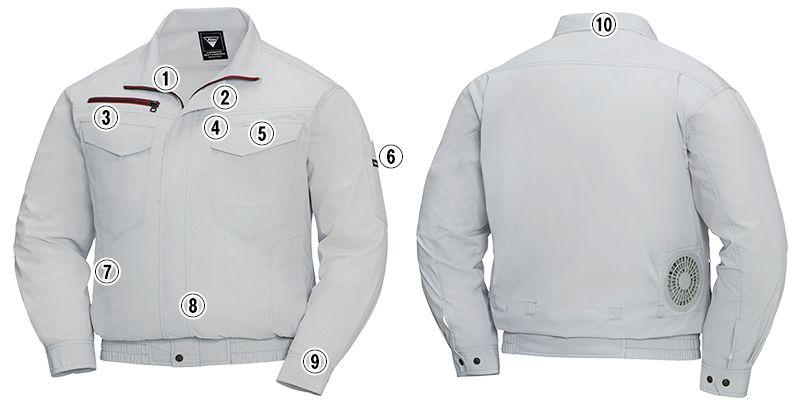 ジーベック XE98001 [春夏用]空調服 長袖ブルゾン 遮熱 商品詳細・こだわりPOINT