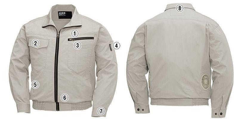 ジーベック XE98002SET [春夏用]空調服セット 綿100% 現場服長袖ブルゾン 商品詳細・こだわりPOINT
