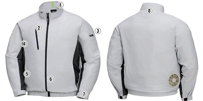 ジーベック XE98003SET [春夏用]空調服セット 長袖ブルゾン ポリ100% 商品詳細・こだわりPOINT