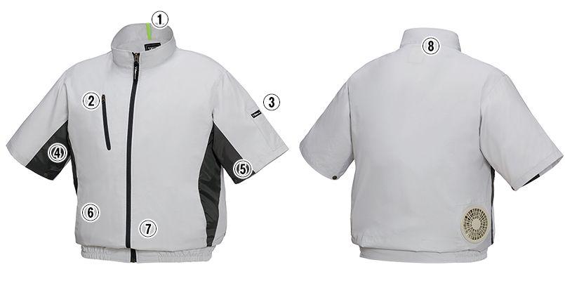 ジーベック XE98004 [春夏用]空調服 半袖ブルゾン ポリ100% 商品詳細・こだわりPOINT