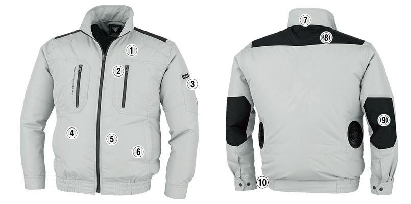 ジーベック XE98008SET [春夏用]空調服セット 長袖ブルゾン ポリ100% 商品詳細・こだわりPOINT