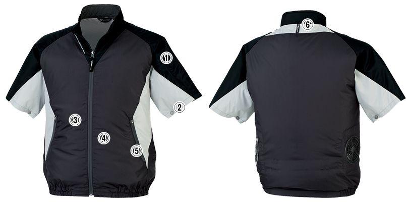 ジーベック XE98009 [春夏用]空調服 半袖ブルゾン ポリ100% 商品詳細・こだわりPOINT