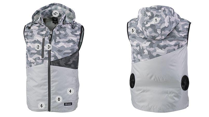 ジーベック XE98016 [春夏用]空調服 ベスト 商品詳細・こだわりPOINT