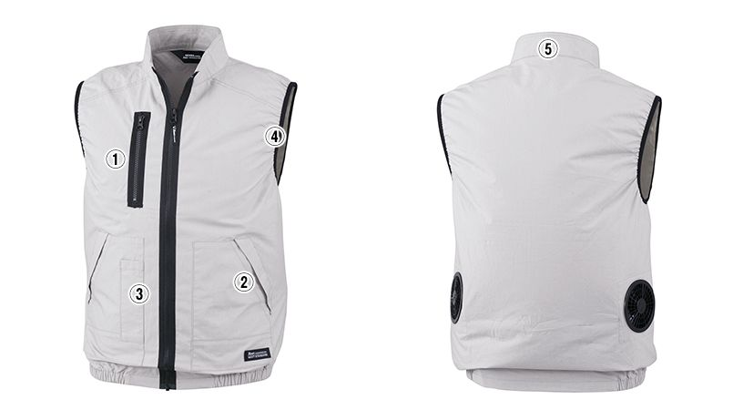 ジーベック XE98019 [春夏用]空調服 ベスト 商品詳細・こだわりPOINT