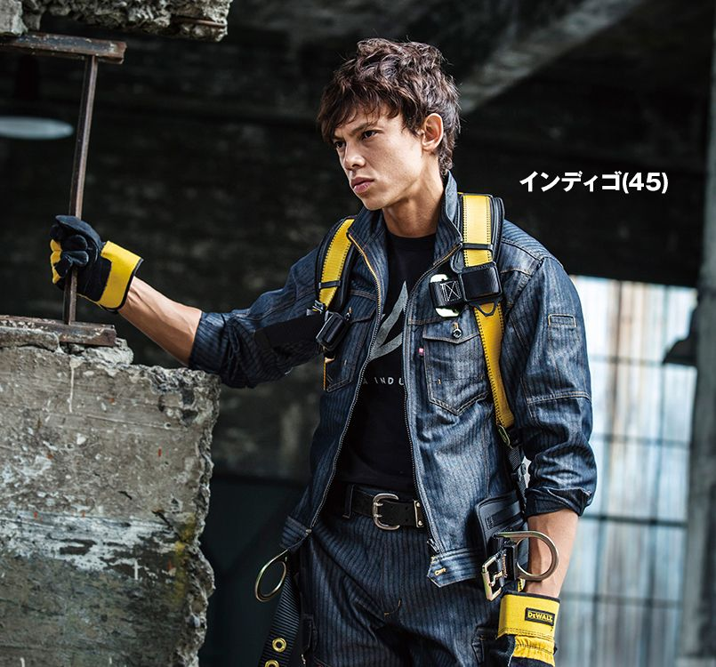 バートル バートル 1511 [春夏用]ヘリンボーン&T/Cライトチノジャケット(男女兼用) 11-1511 ジャケット モデル着用雰囲気1